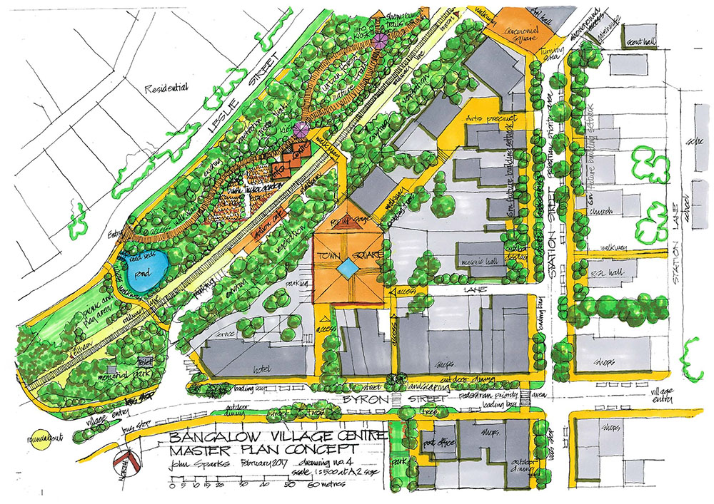 Bangalow Village Master Plan Town Square Sm