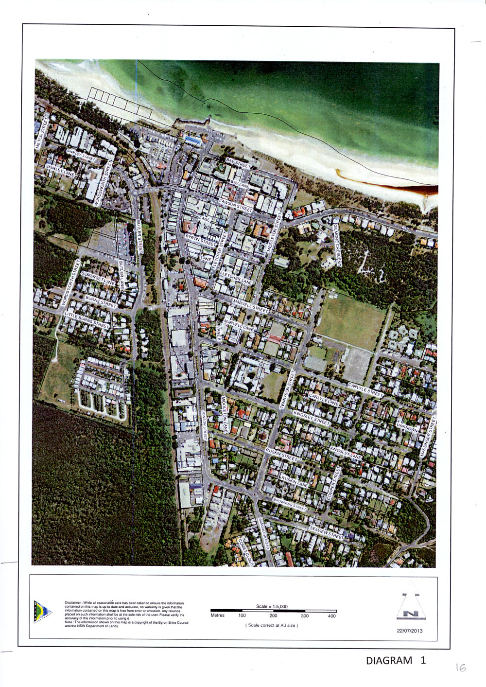 BYRON BAY TOWN CENTRE MASTER PLAN aerial view